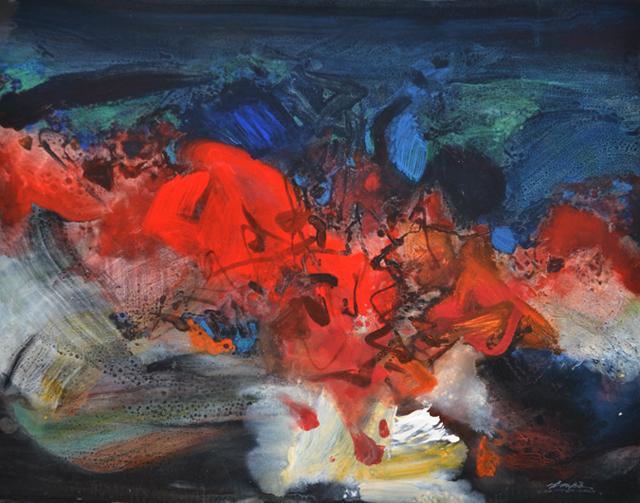 Exposition CHU Teh-Chun : Œuvres sur Papier